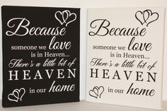 Heaven in memory remembrance canvas picture print. www.essexprintingservice.co.uk