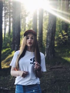 #nature #girl #forest #sun