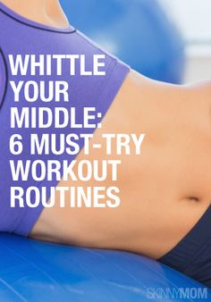 Whittle Your Middle: 6 Must-Try Workout Routines - If you feel like you are forever fighting the battle of the bulge, look no further. These six tummy-tightening routines will tackle those trouble spots and give you the middle you crave! Fitness Workouts, Fitness Diet, Fitness Motivation, Health Fitness, Core Workouts, Fitness Fun, Core Exercises, Body Fitness, Ab Routine