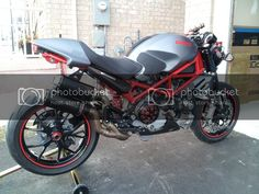 Hello All This is my 2007 Ducati Monster Custom. I spend too much time and money over the winter modifying her but was completely worth it! Ducati Monster S4r, Monster Motorcycle, Lane Splitter, Camaro 2ss, Yamaha Sr400, Cafe Racer Seat, Supersport, Black Box, Black House