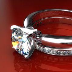 18K White Gold 2.5mm Comfort Fit Engagement Ring, 2 Ct Princes Cut Ruby Embedded & Fitted