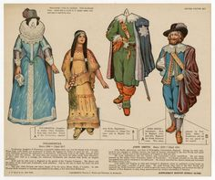 75.2111: Pocahontas & John Smith   paper doll set   Paper Dolls   Dolls   National Museum of Play Online Collections   The Strong: