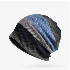 17d620ebdd0 Hats Mens Stripes Beanie Hats Winter Plus Cashmere Bonnet Cap  Multi-Function Scarf