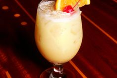 Painkiller III: 2oz rum, 4oz pineapple juice, 1oz orange juice, 1oz cream of coconut