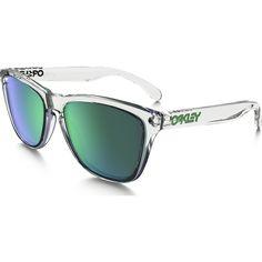 Oakley Lifestyle Frogskins Crystal Clear Sunglasses   Jade Iridium