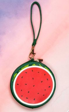 Tropical Watermelon Coin Purse Keyring Bag Ladies Girls Party Bag Filler Red