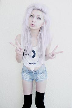 Scene hair white