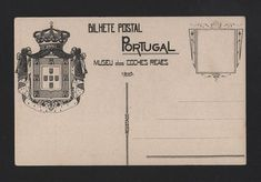 PORTUGAL year 1905 HERALDIC COAT OF ARMS horse cart horses CARRIAGE LISBON