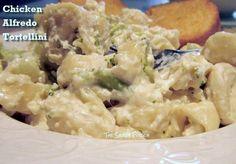 serving of Chicken Alfredo Tortellini
