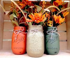 Pick Hand Painted Mason Jars Autumn Home Decor Fall Decor Thanksgiving Centerpiece Fall Wedding Farmhouse Fall Country Decor Fall Mason Jars, Mason Jar Crafts, Mason Jar Diy, Rustic Mason Jars, Fall Home Decor, Autumn Home, Fall Kitchen Decor, Kitchen Interior, Fall Harvest Decorations