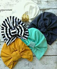 No more beanies! These turban hats are trendy and add a fashionable boho look . Completely handmade with a soft cotton blend knit for all day wear and comfort. Choose from any of the color options on the second photo and leave a note during checkout. Baby Turban, Turban Hat, Turbans, My Baby Girl, Baby Love, Baby Girl Fashion, Kids Fashion, Boho Fashion, Fashion Shoes