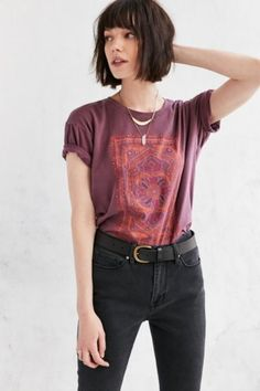 Truly Madly Deeply Floral Jewel Tee