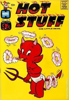 Hot Stuff - One of the series published by Harvey Comics, many of their series were also cartoon shorts appearing on TV during the mid to late 60's. Harvey Comics' cornerstone was the familiar omnipresent Casper The Friendly Ghost - a television show & comic book that my brothers and I avoided like the plague. This was one of the rare comics they sold that was fairly likable...as long as you weren't any older than, say, 10. Weak story lines with a few one-liners & occasionally amusing…
