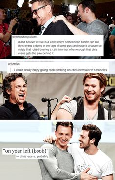 Avengers at 2014 Comic Con + text posts #1