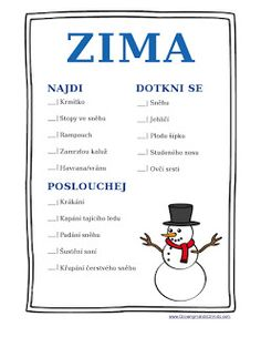 Naše cesta (za) domácí školou: Zima Science Projects, School Projects, Diy For Kids, Crafts For Kids, Winter Activities For Kids, Environmental Education, Teacher Hacks, Outdoor Play, Fun Games