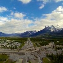 Canmore Cougar Creek flood June 2013