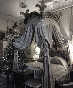 Modern Gothic Bedroom Design And Decorating Ideas - TopDesignIdeas Dream Rooms, Dream Bedroom, Master Bedroom, Kids Bedroom, White Bedroom, Fancy Bedroom, Black Bedrooms, Bedroom Brown, Master Suite
