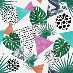 Free Design, Plant Leaves, Royalty, Triangles, Repeat, Pattern, Sea, Free Downloads, Inspiration