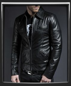 Lynch - vintage jacket in nappa italian leather by soul revolver