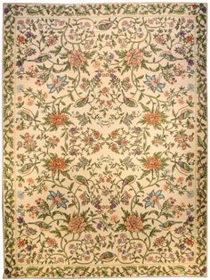 Home & Hearth 58 X 82 Vintage Needlepoint Floral Area Rug French Aubusson Country Design 5x7 Antiques