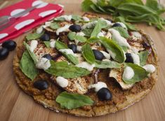 Roast Aubergine and Basil Pizza