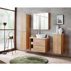 Szafka pod umywalkę CAPRI 60 COMAD - Szafki pod umywalki - w atrakcyjnej cenie w sklepach Leroy Merlin. Borneo, Double Vanity, Teak, Bathroom, Home, Design, Products, Bath, Living Room