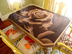 Creating pictures with stain, a step-by-step tutorial video
