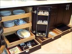 Image result for undercabinet drawers