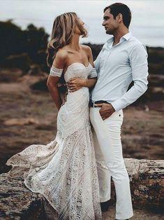Sweep-Train Mermaid Lace Strapless Sweetheart Backless Wedding Dress - Source by mikayla_klerk - Lace Beach Wedding Dress, Sequin Wedding, Wedding Dress Train, Long Wedding Dresses, Bridal Lace, Bridal Gowns, Ivory Wedding, Prom Dresses, Dress Lace