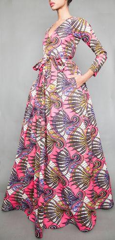 Jolies robes pagne ou wax pour mariage africains co for Robes maxi design pour les mariages