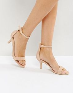 Discover the range of wedding shoes with ASOS. Shop bridal heels, sandals & platforms, in cream, nude, gold and embellished styles with ASOS. Order today at ASOS. Kitten Heel Sandals, Low Heel Sandals, Ankle Strap Heels, Ankle Straps, Low Heels, Shoes Heels, Beige Sandals, Bridesmaid Shoes, Prom Shoes