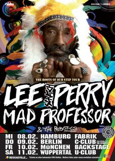 Sound Systems & Concert Posters - Reggae Concert Posters - Lee Scratch Perry - The Roots of Dub Step Tour