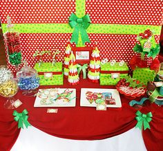 Christmas Wrapping Party  Not sure I would throw a party but maybe set up as a cute wrapping station so I would wrap gifts as they are bought and not wait till the last minute.
