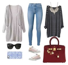 """""""Untitled #202"""" by zey15 on Polyvore featuring 7 For All Mankind, Converse, Hermès, Chanel, Uncommon and Jane Norman"""