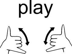 Sign Language (ASL) Word of the Week – Play | My KIdentity