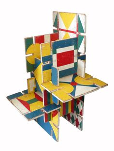 Architectural Children's Toy | From a unique collection of antique and modern toys at https://www.1stdibs.com/furniture/folk-art/toys/