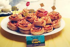 Pizza wheels Wheels on the bus party