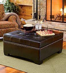 oversized black ottoman/coffeetable with storage