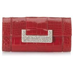 Judith Leiber Brilliant Alligator Evening Handbag Marilyn Monroe Shoes, Unique Purses, Red Colour, Royal Red, Judith Leiber, Red Hats, Oscars, Clutch Purse, Hand Bags