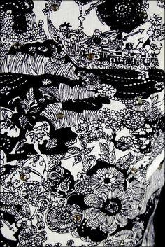 Vintage 1950s Dress  Black White Cotton  by millstreetvintage, $225.00