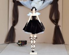 Tilda doll Ballerina Chocolate. Swan Lake. Interior by OksanaGryts