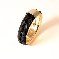 Male ring, Man ring, leather ring