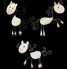 STICKY HORSES33 Machine Embroidery Design Pack от AzEmbroideryBarn