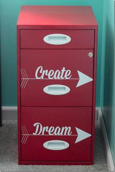 New DV office > File Cabinet Makeover Office Makeover, Cabinet Makeover, Repurposed Furniture, Painted Furniture, Furniture Makeover, Diy Furniture, Office Furniture, Classroom Decor, Home Crafts