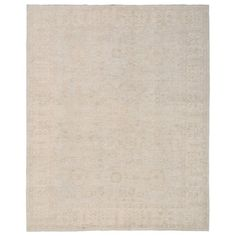 Herat Oriental Vegetable Dye Hand-Knotted Grey/Ivory Area Rug