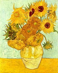 Vincent van Gogh Vase with Twelve Sunflowers painting is shipped worldwide,including stretched canvas and framed art.This Vincent van Gogh Vase with Twelve Sunflowers painting is available at custom size. Van Gogh Pinturas, Vase With Twelve Sunflowers, Van Gogh Sunflowers, Van Gogh Art, Art Van, Gustav Klimt, Vincent Willem Van Gogh, Photo Mosaic, Van Gogh Museum