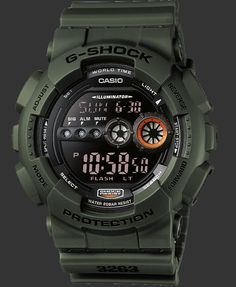 Black Military G-Shock GD-100 Very cool G Shock Watches,