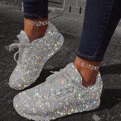 Glitter grey shoes amazing is part of Diamond shoes - Jordan Shoes Girls, Girls Shoes, Shoes Women, Sneakers Fashion, Fashion Shoes, Adidas Fashion, Fashion Fashion, Latest Fashion, Diamond Shoes
