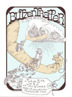 Blitzen Trapper poster! I love those guys .. poster by Brooke Weeber #poster #design #illustration #band #folk #portland