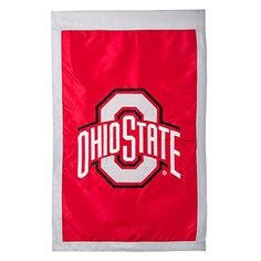 Ohio State Buckeyes Official NCAA 29 inch x 43 inch Suede Reflections House Flag